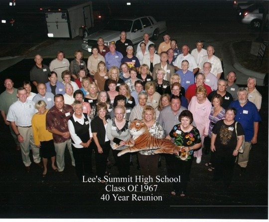 Lee's Summit Class of 1967 Reunion in 2007